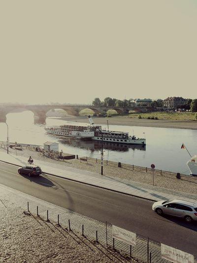 From My Point Of View Beeing A Tourist in Dresden Dampfschiff auf der Elbe
