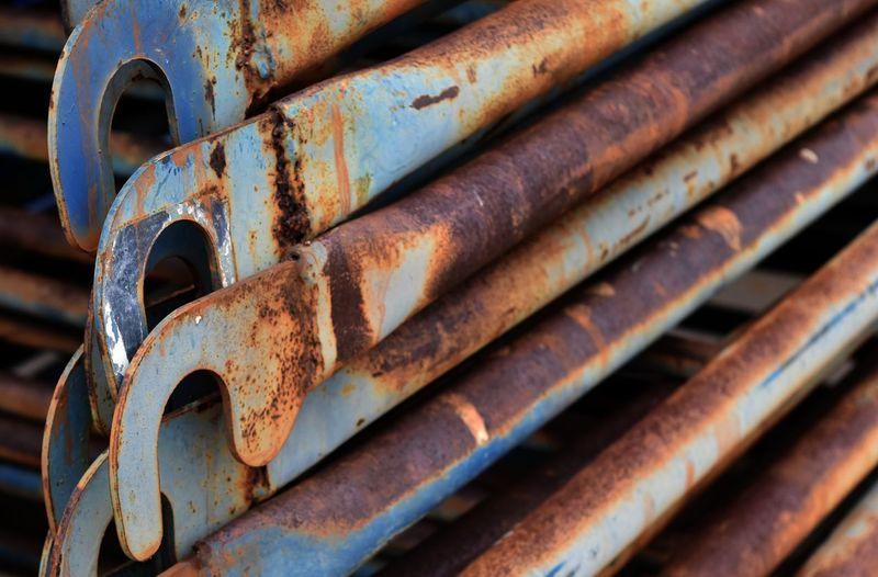 Full frame shot of rusty metals
