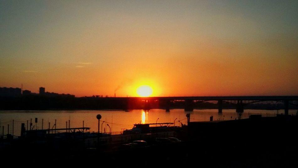 Набережная г. Новосибирск Water Sun Sky First Eyeem Photo