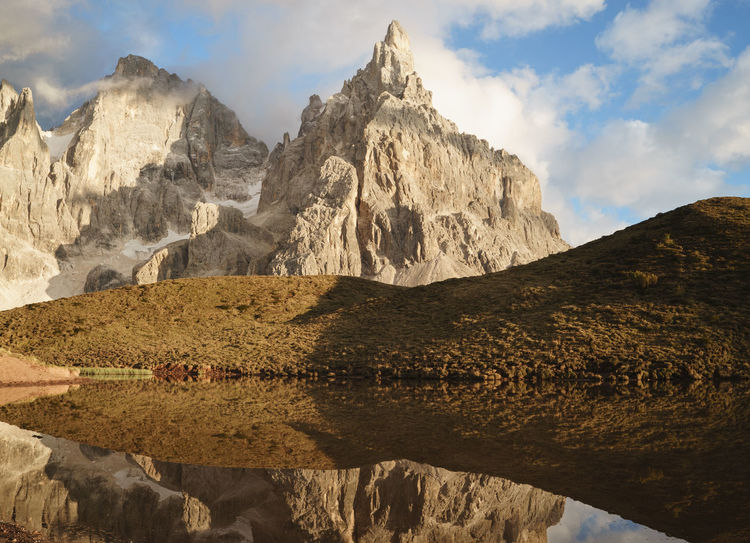 Cloud Dolomites Dolomiti Geology Italy Lake Mountain Mountain Peak Mountain Range Nature Outdoors Pale Di San Martino Physical Geography Reflection Remote Rock Formation Rocky Rocky Mountains San Martino Di Castrozza Tourism Trentino Alto Adige UNESCO World Heritage Site Water
