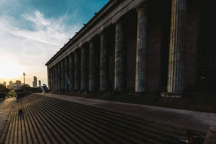 Architecture Argentina Buenos Aires Buenosaires Building Built Structure Column Columns Diminishing Perspective Empty Facultad De Derecho - Universidad De Buenos Aires Lifestyle Sunset Travel Vacation Vanishing Point VSCO Vscocam