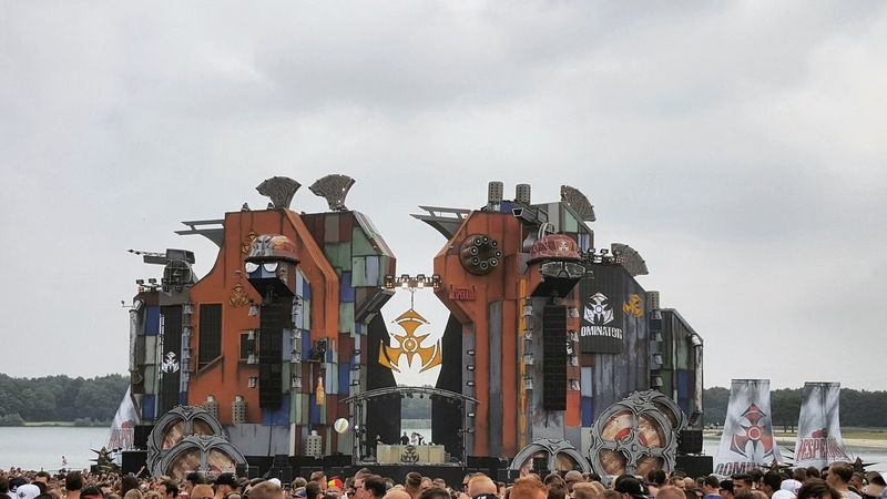 Taking Photos Check This Out Decoration Architecture Enjoying Life Dominator Festival Raw Hardstyle Stage Stage Photography Music QDance Party Rave Party Time Partying Amazing View Dancing Raving Festival Season