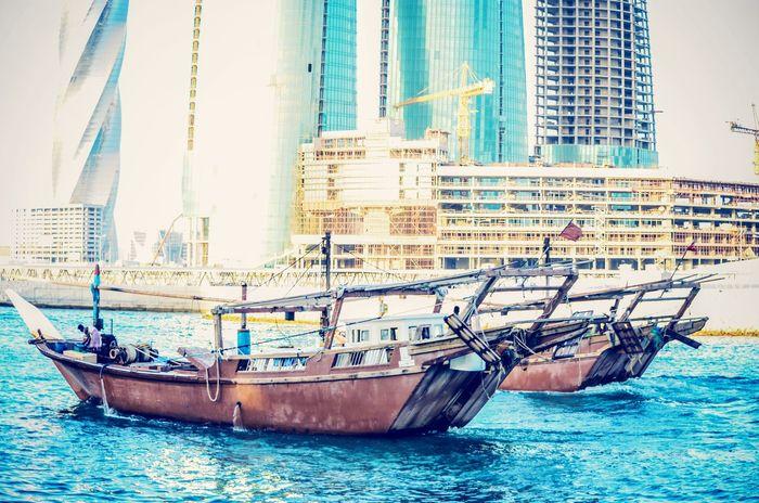 Dock Bahrain Fishing Boat Traditional <3 Bahrain!