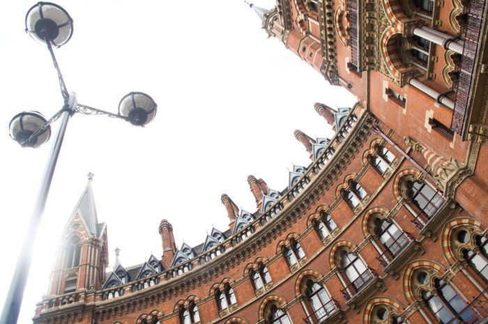 EyeEm LOST IN London St Pancras Hotel St Pancras Renaissance Hotel St Pancras Station St. Pancras Architecture Building Exterior Built Structure City Day Low Angle View No People Outdoors Sky Travel Destinations Postcode Postcards
