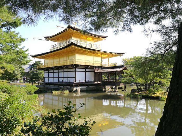 Tree Architecture Built Structure Building Exterior Day No People Water Roof Outdoors Sky Kinkakuji Temple Of Japan Kinkaku-ji Kinkakuji Kinkaku-ji Golden Pavilion Place Of Worship Japan Kyoto HuaweiP9 Kyoto, Japan