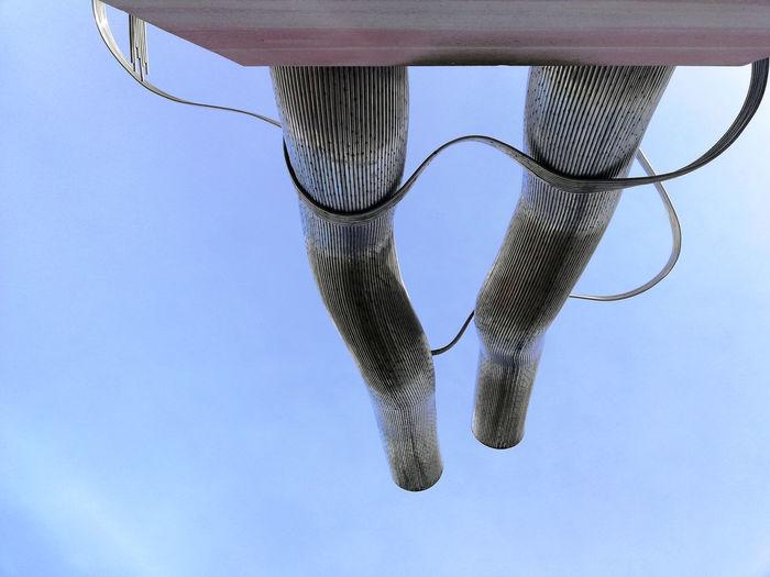Bismarckplatz Dulger-Brunnen Matschinsky-Denninghoff Art And Craft Blue Clear Sky Close-up Low Angle View Sculpture Sky