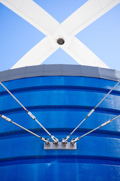 Blue Wall Day Close-up Sling Boats⛵️ Ships⚓️⛵️🚢 On The Ship