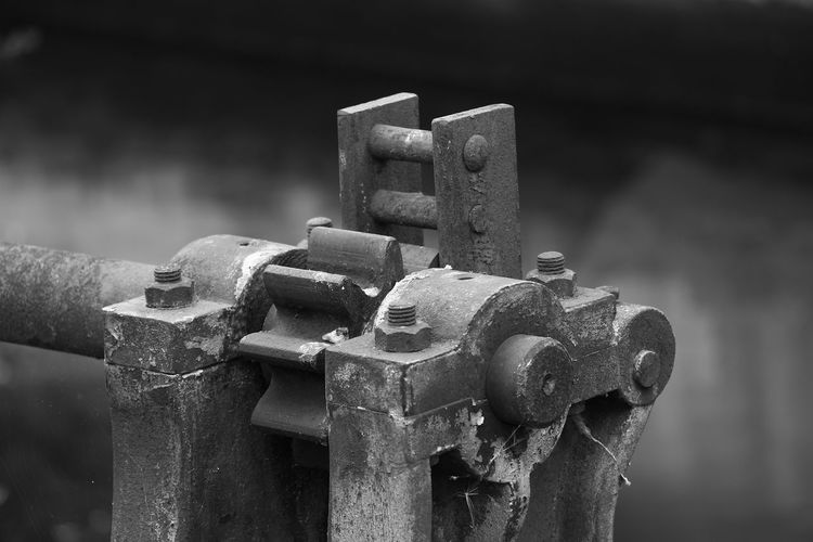 Close-Up Of Rusty Machinery