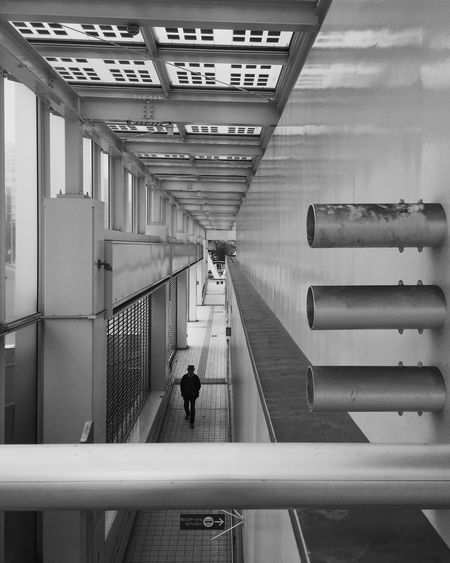 Real People Full Length Lifestyles Men Railing Indoors  One Person The Way Forward Architecture Day People Adult City City Life The City Light Long Goodbye Art Is Everywhere The Street Photographer - 2017 EyeEm Awards Be. Ready.