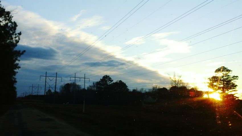 Countryside Clouds And Sky Sunset Cold Front Sillouette power lines Knowledge Is Power Power Lines cold front Artistic Rayizem