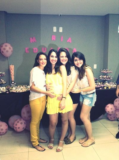 #BabyShower celebrating Maria Eduarda's life, she's comming and i just can't wait! #ilovemydaughter#bffs