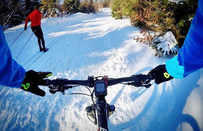 Men Sport Outdoors Cycling Cold Temperature Winter Snow Gopro Snow ❄ Gopro Shots Snow Day ❄ Goprohero4 Bike Ride MTB Biking MTB Capture The Moment Narciarstwobiegowe Biegowki Biegowki Crosscountry Skiing Cross Country Skiing Goprophotography GoPro Hero 4 Goprohero4silver