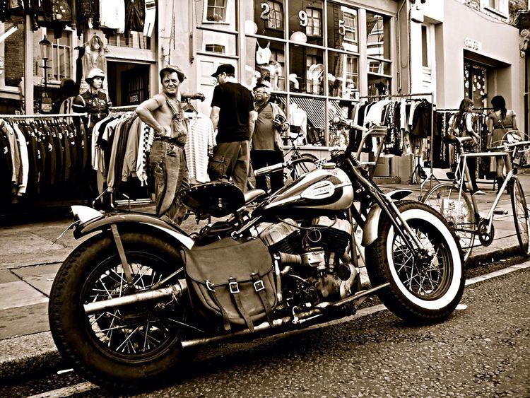 Cool Dude Motorbike Harley Davidson Portobello Road