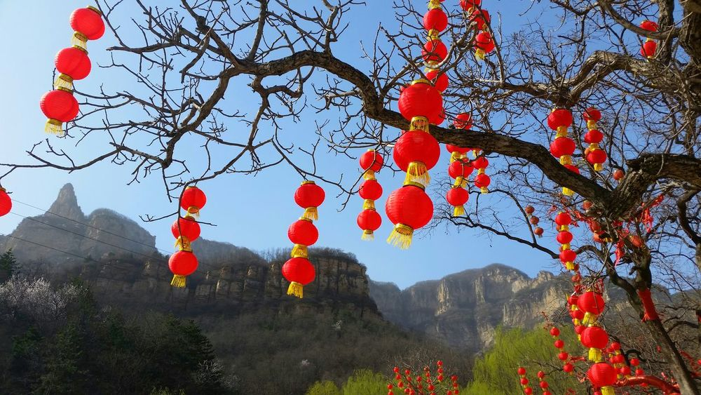 China Hebei Province Spring Warm Day Traveling Mountains