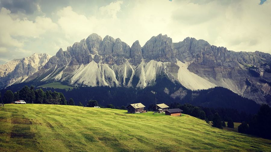 Alps Alta Via 2 Brixen /Bressanone Dolomites Dolomites, Italy Dolomiti Italian Alps Land Mountain Mountain Chalet Mountain Range Tranquil Scene