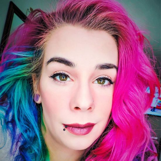 Uniqueness Multi Colored Make-up Beauty Pink Color Close-up Dyed Hair Indoors  Day People Beautiful Woman Fashion Eyeshadow Reflection Young Adult Only Women Adult One Young Woman Only One Person One Woman Only Adults Only