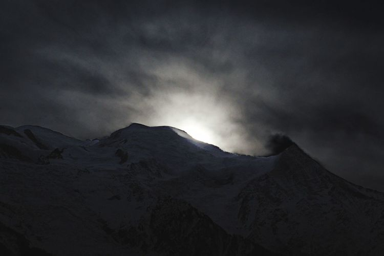 Mountain Nature Sky No People Cloud - Sky Winter Night Outdoors Landscape Beauty In Nature Power In Nature Snow