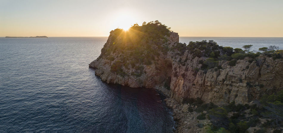 Beautiful Nature Drone  From Above  Ibiza Lost In The Landscape SPAIN Sunrise_Collection Aerial Aero Bluewater Cliff Day Dronephotography Hill Horizon Over Water Landscape Mountain Nature No People Sea Sea And Sky Sunlight Sunrise Sunset Water