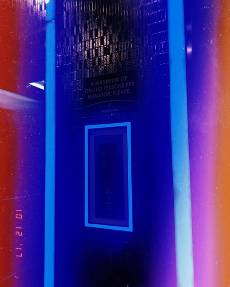 Going up?👆 Going down?👇 Neon Lights ♥ Elevator Up Down