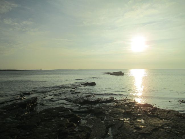 Beauty In Nature Horizon Over Water Idyllic Ireland Remote Scenics Sea Sky Sunset Tranquil Scene Water The Great Outdoors - 2016 EyeEm Awards