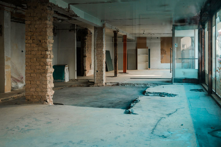 Empty room of abandoned building