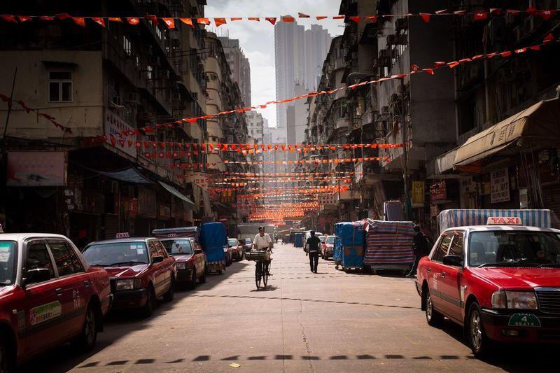 Man on city street