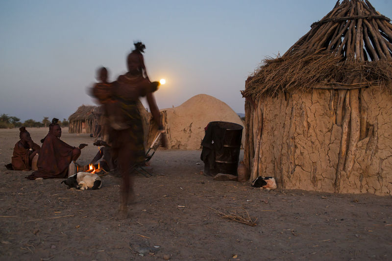 Adults Only Africa Himba Moonlight Night Nightphotography Outdoors Poor  Sky Tribe Village
