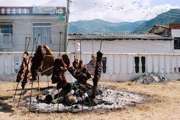 Barbecue Colombia Outdoors Mountains Andes Barbacoa Pueblo Village Village Life