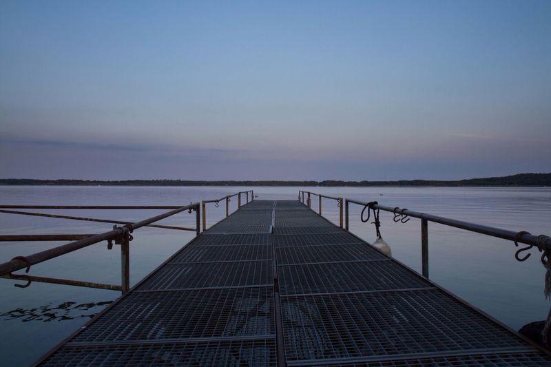 Lake View Natur Evening Sky Blue