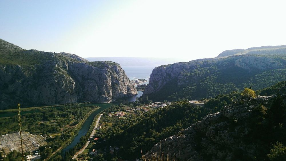 Omis Croatia High Angel View Mountain And Valley Beautiful View