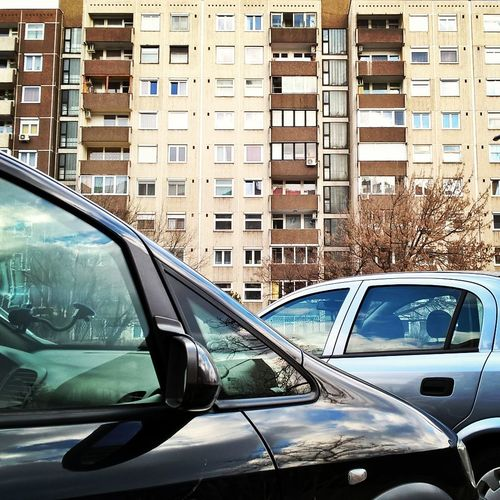 #block #budapest #buildings #communism #community #socializing Architecture Car City Day Land Vehicle Mode Of Transport No People Old-fashioned Outdoors Transportation