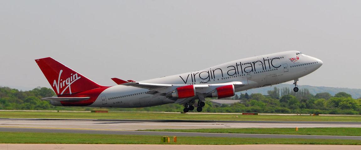 Virgin Atlantic 747 Manchester Airport 747 Aircraft Airplane Airport Manchester Plane Virgin  Virgin Atlantic