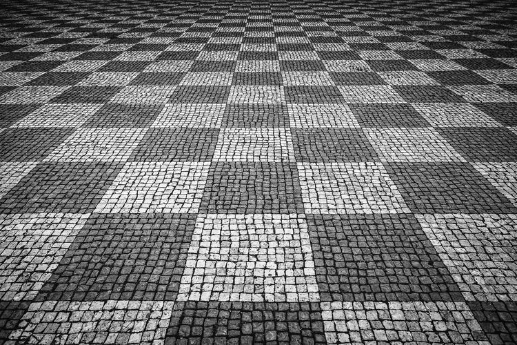Pattern Full Frame Backgrounds High Angle View No People Day Footpath Square Shape Textured  Design Flooring Repetition Outdoors Cobblestone Tile Paving Stone Street Geometric Shape Nature Stone Tiled Floor