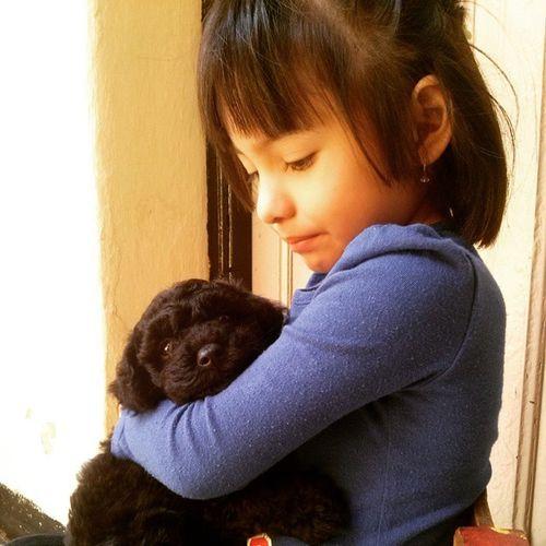 Mae with Doggy!!! Cuando apenas el perro tenia un mes! Animaldefender Proud