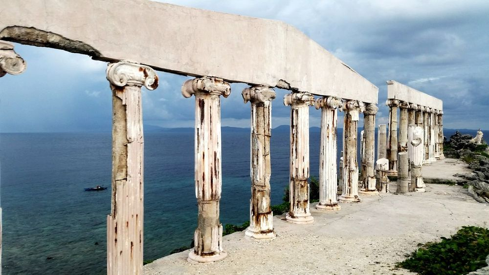 Fortuneisland Wanderlust Vitaminsea Ancientgreece Batangas Philippines Beach Columns And Pillars Ruins First Eyeem Photo Vacation Swimming Travel Outdoors Backpacking Camping Fun Adventure Sea View
