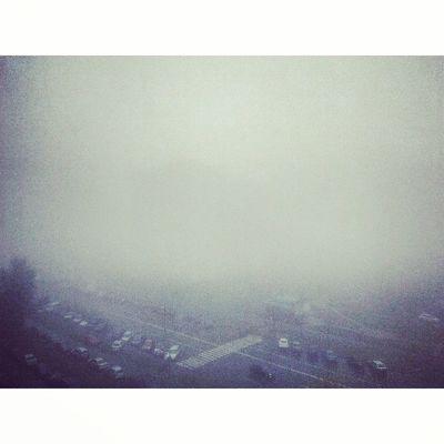 Вид из окна Kyiv Kiev Kievblog Instakiev Киев туман осень Троещина