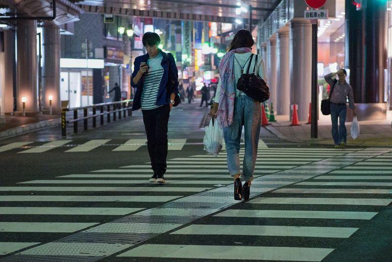 Illuminated City Street People Night City Life Zebra Crossing Crossing Snapshot Streetphotography CityWalk On The Road Street Light Nightphotography at Kichijoji 吉祥寺 , Tokyo Japan