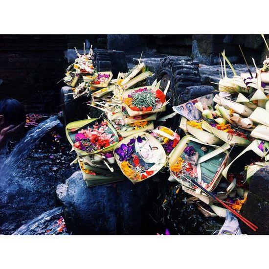 Offering in Bali Bali Tirtaempul  Memories Spirits Spiritual Praying Offers Colors Holy Water