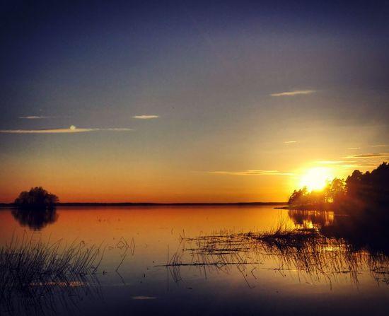 Sunset Summertime Sun Summer Memories... Beautiful Sunset Beauty In Nature Finnish Nature Naturebeauty Evening Sky Evening Sun EyeEmNewHere