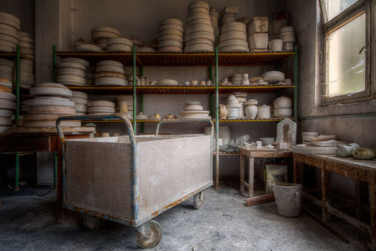 Large Group Of Objects Indoors  Shelf No People Old Building Container Day Abundance Still Life Stack Retail  Variation Abandoned Abandoned Places Industry Decay Decaying Urbex Urbexphotography