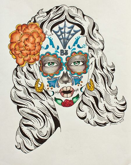 Sugarskull Dia De Los Muertos Behance Follow Me On Instagram Art Check This Out Hi! Hello World Art Gallery Canneslions