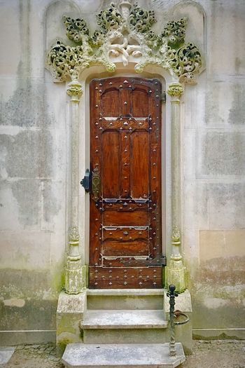 Church door Lisbon Sintra Portugal Wall Stone Wooden Wood Door Church Door Entrance No People Safety Architecture Built Structure Doorway Day Outdoors Building Exterior Close-up