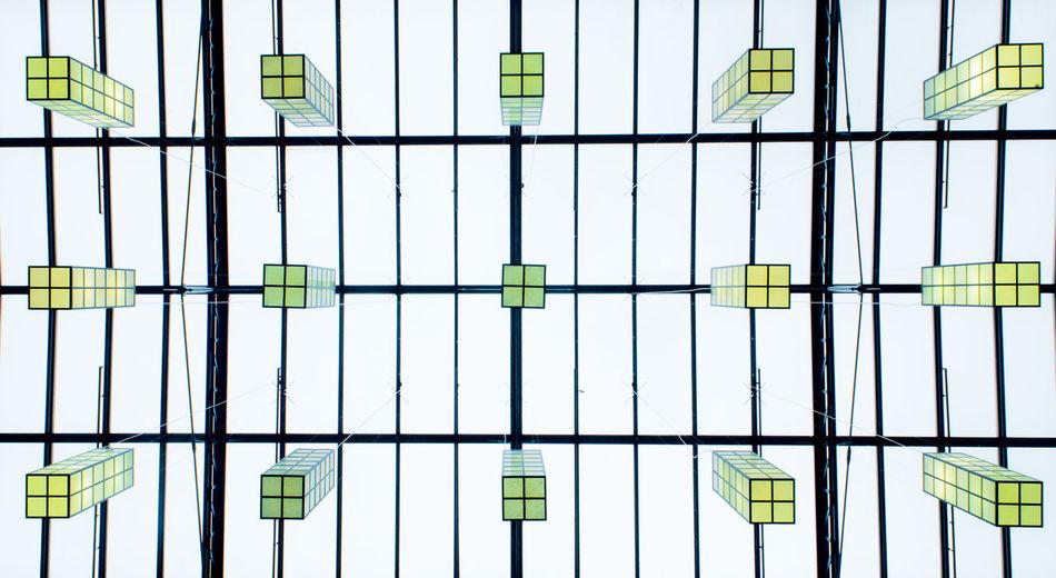 Full frame shot of glass window in building