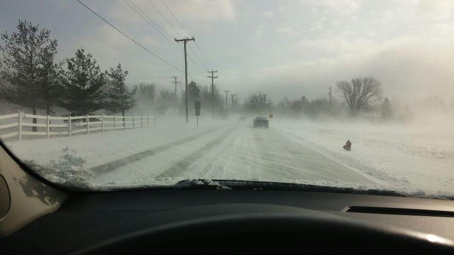 Driving through