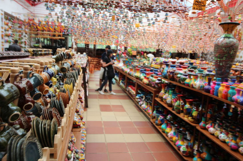 Crafts Market Abundance Arrangement Art Ceramic Ceramic Art Ceramic Art Craft Ceramics Choice Clay Clay Art Clay Work For Sale Handmade Indoors  Large Group Of Objects Market Pottery Raquira Real People Retail  Shelf Store Variation