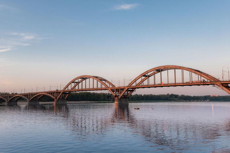 Volga river and volzhskiy bridge