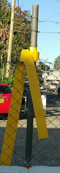 Outdoors Sunshine ☀ Fencing Wire Yellow Banding Paint The Town Yellow