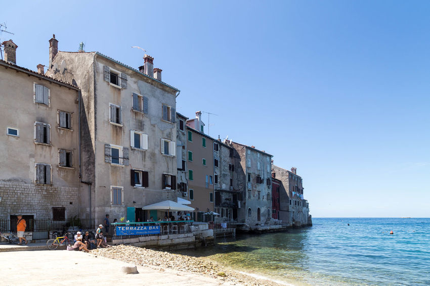 Rovinj , Croatia... Croatia Croatian Coastal Town Croatian Coast Holiday Rovinj Rovinj Croatia Travel Vacations Architecture Beach Building Building Exterior Built Structure Clear Sky Coatal Croatian City Croatian Coastline Croatian Town Day Residential District Sea Summer Vacation Visit Croatia Water