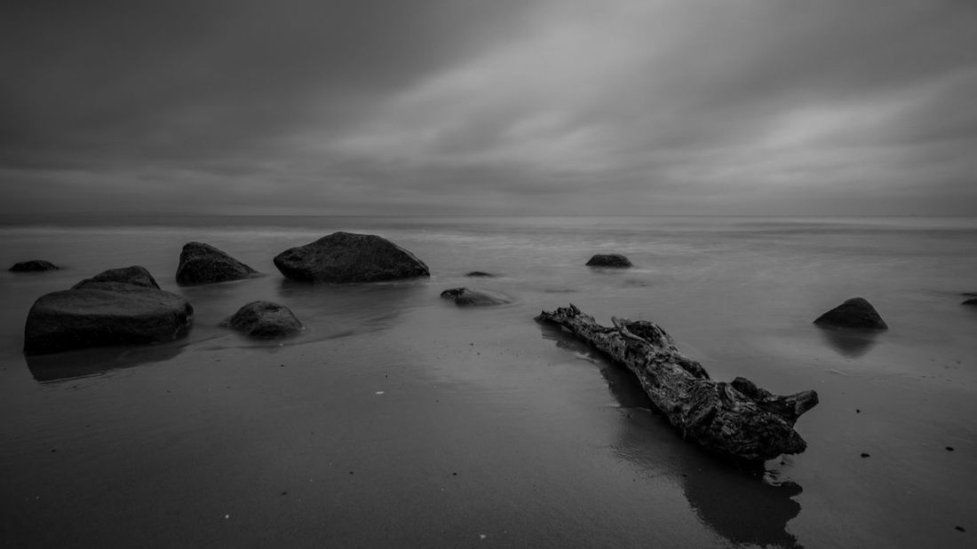 Black and White Picture from the Waterfront of Göhren Baltic Sea Black & White Beach Beauty In Nature Black And White Black And White Photography Cloud - Sky Horizon Horizon Over Water Idyllic Land Long Exposure Nature No People Outdoors Rock Rock - Object Scenics - Nature Sea Sky Solid Tranquil Scene Tranquility Water Waterfront