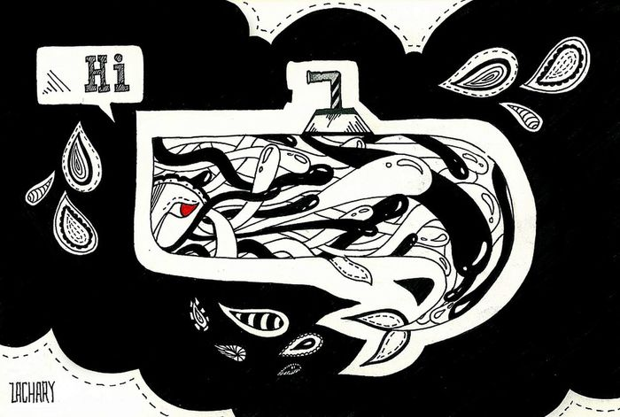 hi, I'm whale. Doodle ¡Eyeem Addict! Sketching And Stuff EyeEm Gallery